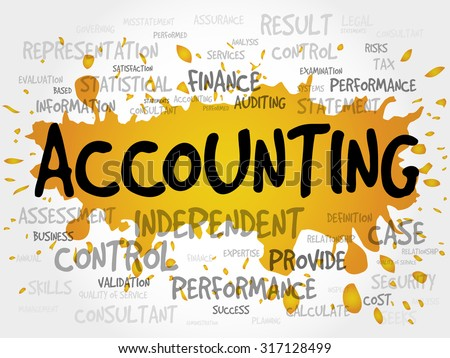 ACCOUNTING word cloud, business concept - stock vector