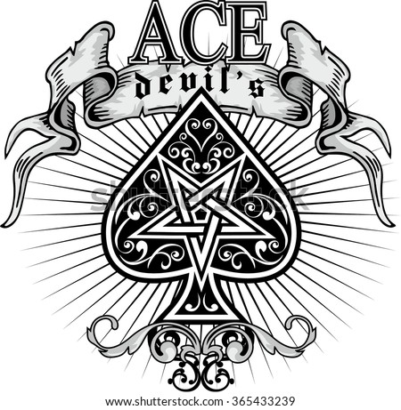 ace of spades - stock vector