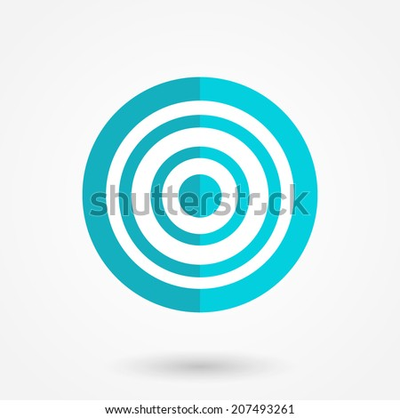 Achieving goal design template vector illustration. Aim icon in flat style - stock vector
