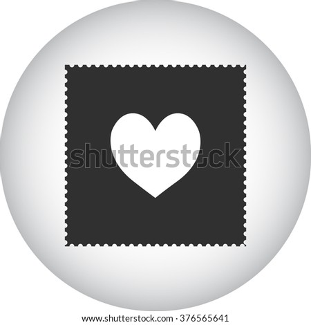 Acid stamp paper lsd simple icon on colorful round background - stock vector
