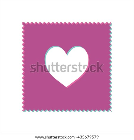 Acid stamp paper lsd simple icon on white background - stock vector
