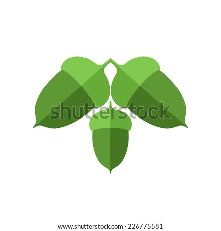 Acorn. Isolated icon on white background - stock vector