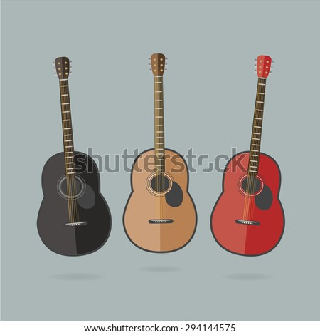 acoustic guitars set