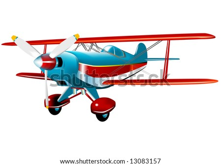 Acrobatic Pitts Special (VECTOR) fully editable fuselage - stock vector