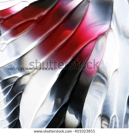 Acrylic handrawn abstract vector  background - stock vector