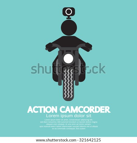 Action Camcorder Symbol Vector Illustration - stock vector