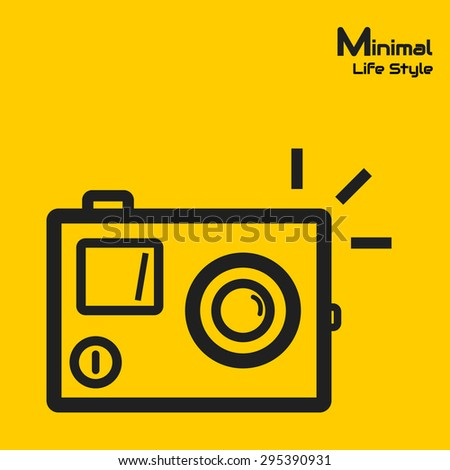 action camera minimal style - stock vector