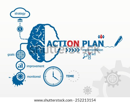 Action Plan Concept Hand Writing Action Stock Vector