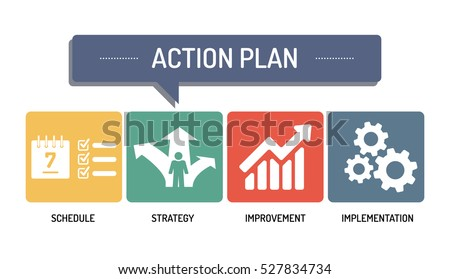 Action Plan Icon Set Stock Vector   Shutterstock