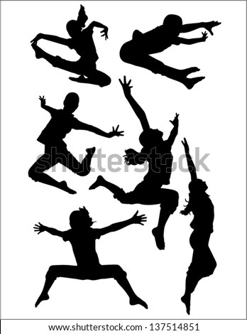 Active child - stock vector