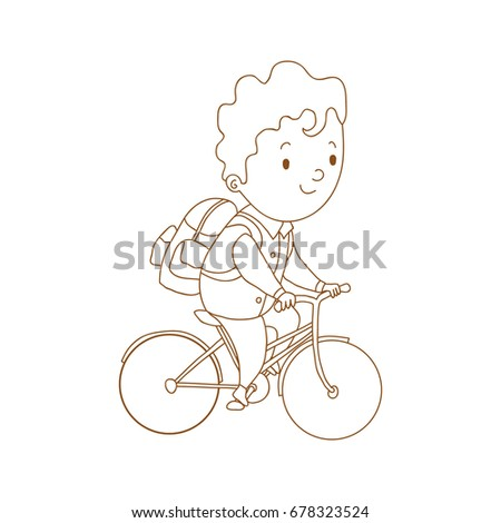 Active Hand Drawn Schoolboy Backpack On Stock Vector 678323524