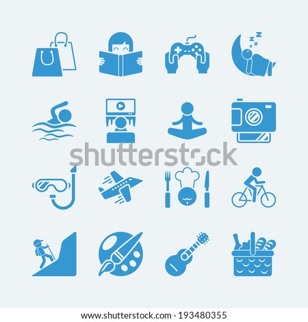 activities vacation icons.Vector eps10 - stock vector
