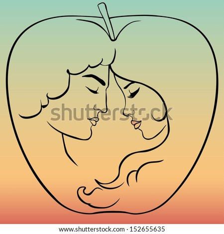Adam and Eve - stock vector