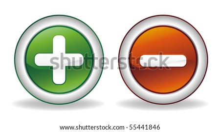 add and subtract icon - stock vector
