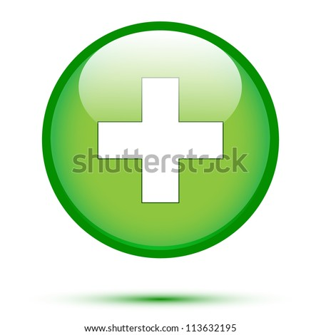 Add icon on white background - stock vector