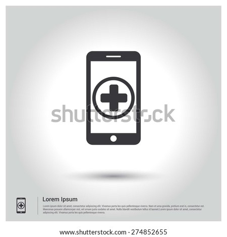 add new application in smartphone concept Icon - stock vector