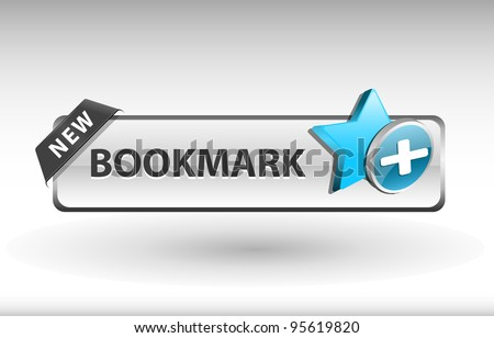 add to bookmark button, favorite icon and button - stock vector