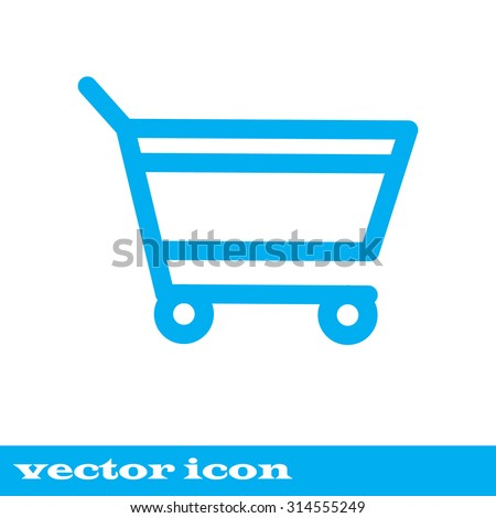 add to cart. blue icon. eps 10. - stock vector
