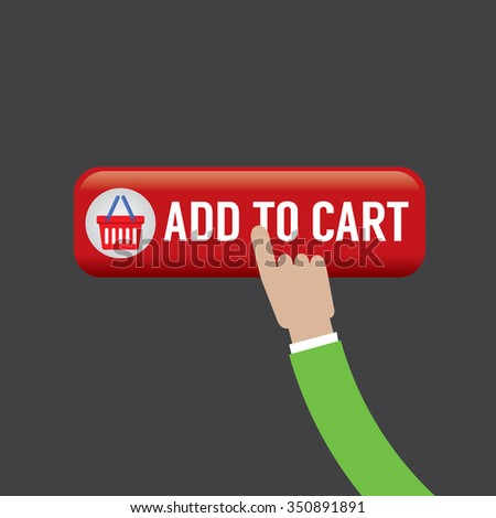 Add To Cart Button Vector Illustration - stock vector