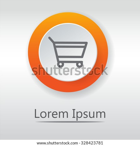add to cart, Classic flat icon. Vector illustration - stock vector