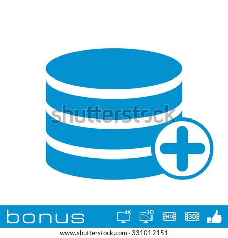 add to database icon - stock vector