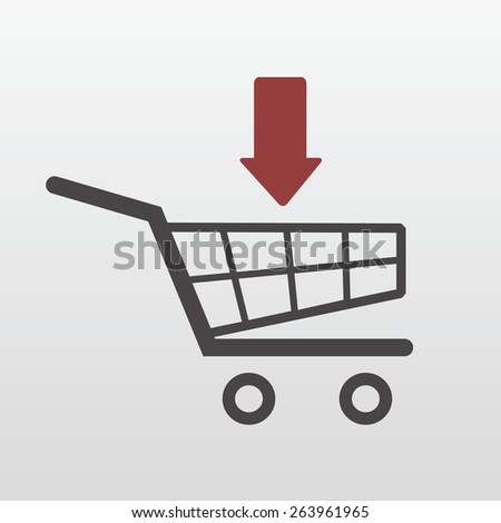 Add to Shopping Cart icon - stock vector