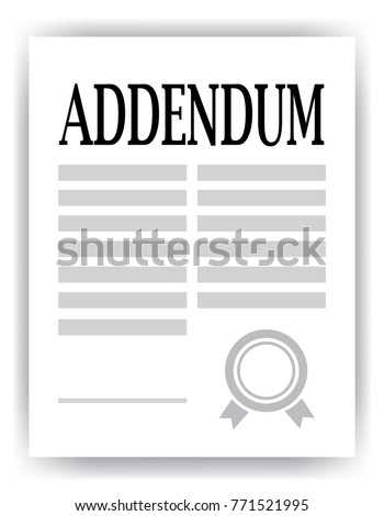 addendum paper, legal concept