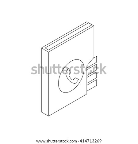 Address book icon, isometric 3d style - stock vector