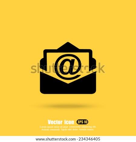 address vector icon - stock vector