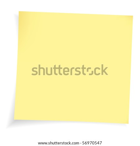 Adhesive note - stock vector