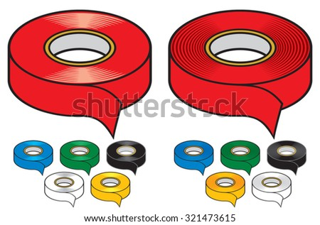 adhesive tape collection - stock vector