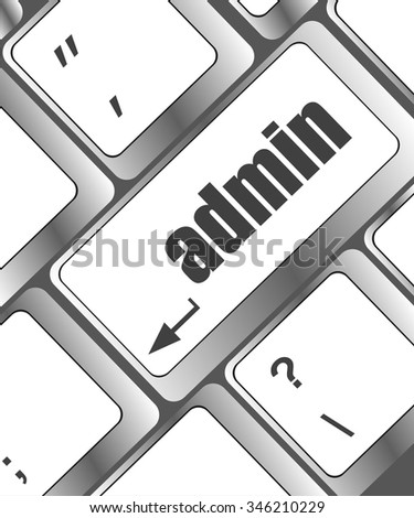 admin button on a computer keyboard keys vector illustration