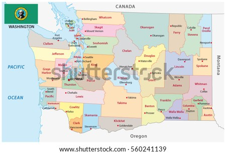 Bahia Administrative Political Map Flag Stock Vector - Us state flag map