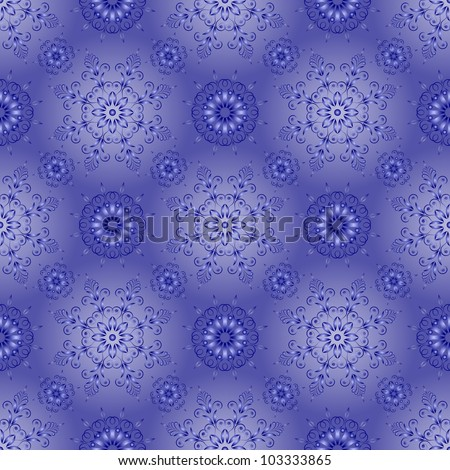 Admirable square blue pattern on a blue background - stock vector