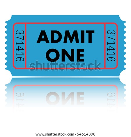 Admit One Ticket - stock vector