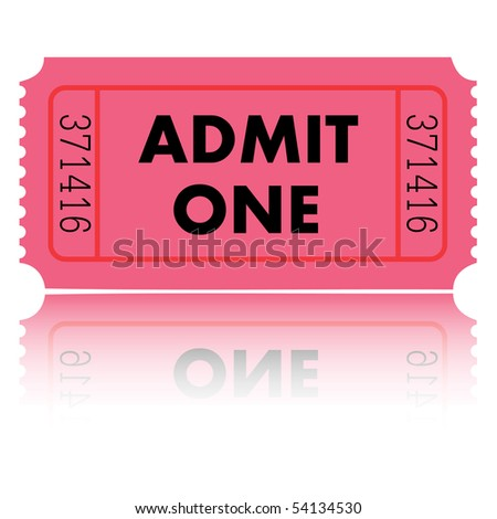 Admit One Vector - stock vector