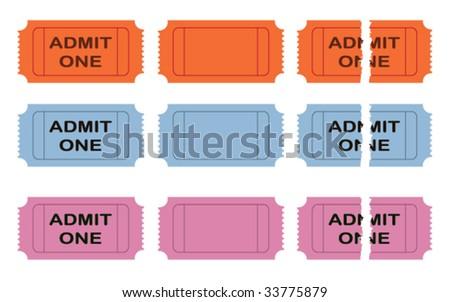 Admit one vector cinema ticket - stock vector