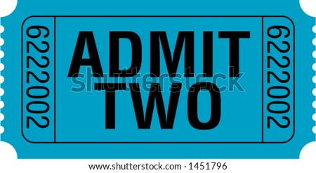 Admit Two Ticket - stock vector