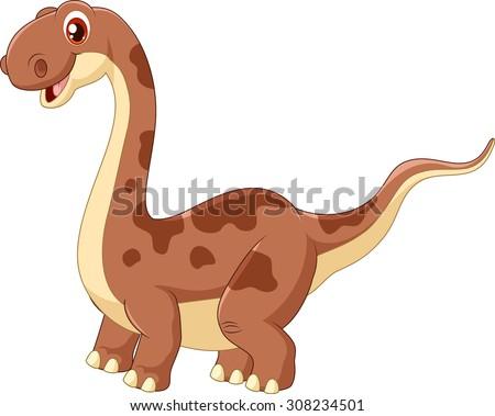 Adorable cute dinosaur  - stock vector