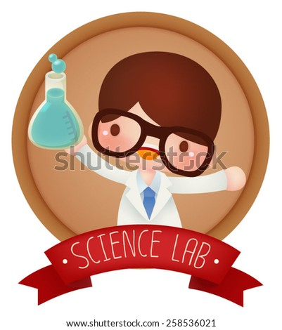 Adorable Science banner - Vector file EPS10 - stock vector