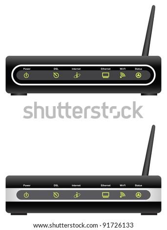 ADSL modem - stock vector