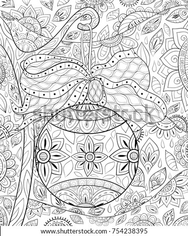 Adult coloring pages stock images royalty free images Zen coloring book for adults