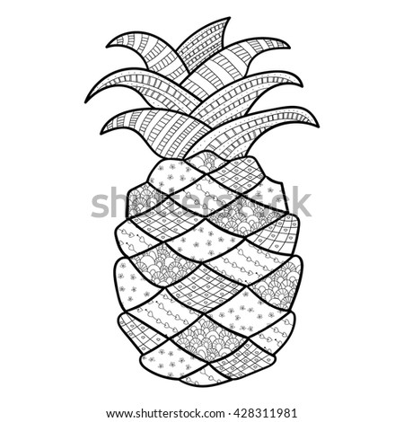 Cute Pineapple Drawing Hand Drawn Pineapple Collection