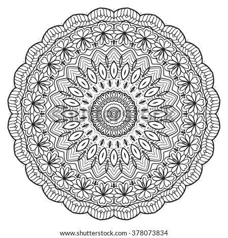 adult coloring page mandala vector for art coloring book zendoodle round zentangle - Adult Coloring Book Pages