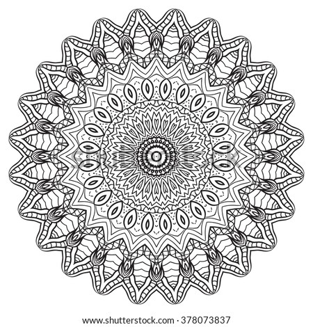 Adult Coloring Page Mandala Vector Art Stock Vector 378073837 ...