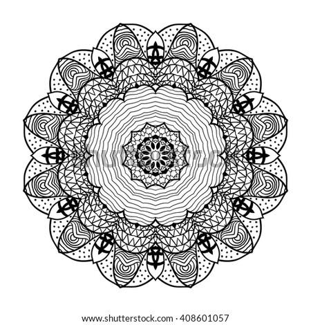Adult Coloring Page Mandala Vector Art Stock Photo Photo Vector