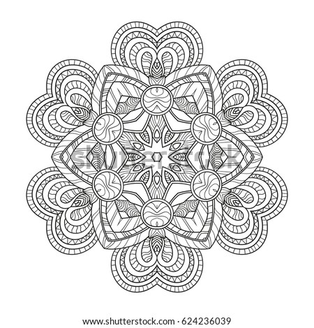 Zen Mandalas Coloring Book : Adult coloring page mandala vector art stock 378073675