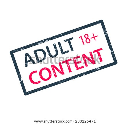 adult content stamp vector illustration, eps10, easy to edit - stock vector