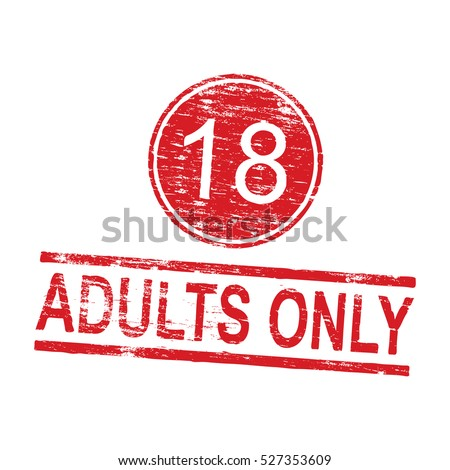 Adults only grungy rubber stamp vector illustration