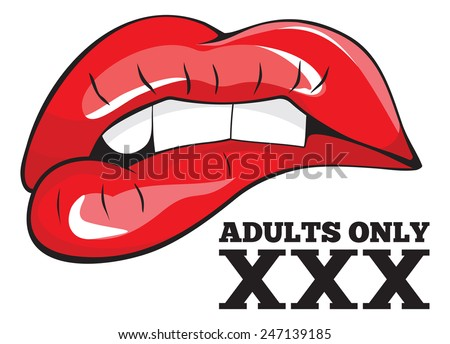 Adults only sign. XXX sign - stock vector